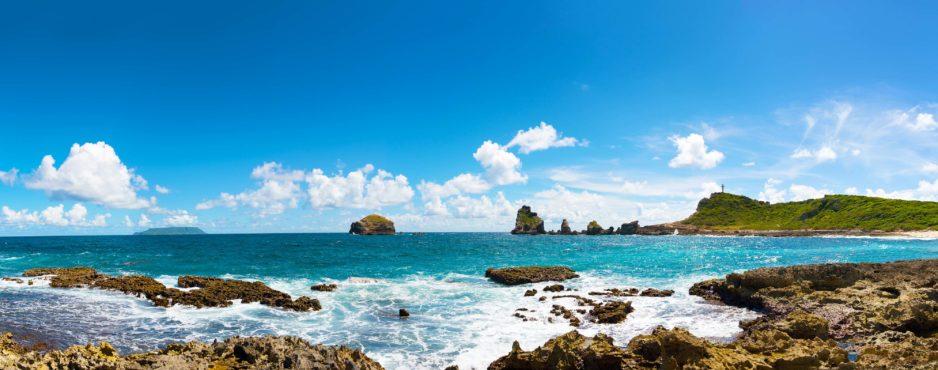 Pointe des châteaux en Guadeloupe