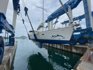 Remise à l'eau de notre Bavaria Cruiser 46